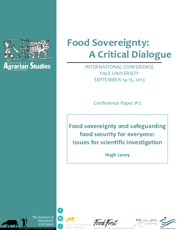 Food sovereignty and safeguarding food security for everyone