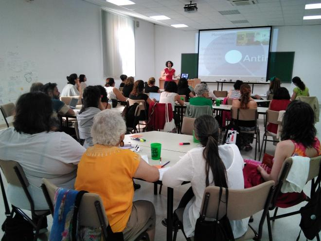 Session on ecofeminism, empowerment and energy transitions at the university of Cadiz
