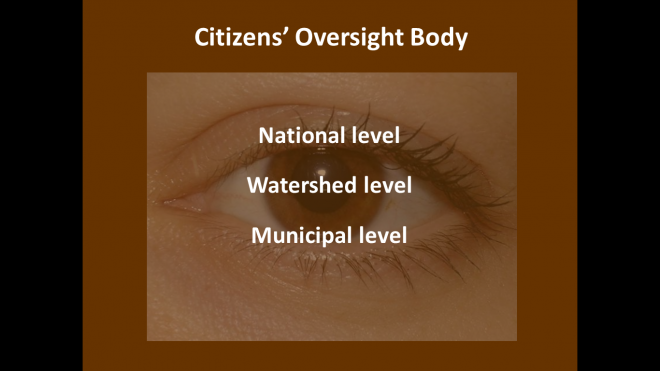 Citizens' Water Oversight Bodies would combat corruption, monitor the fulfillment of the human right to water & sanitation and pressure public officials to implement the plans and decisions of the co-management councils.