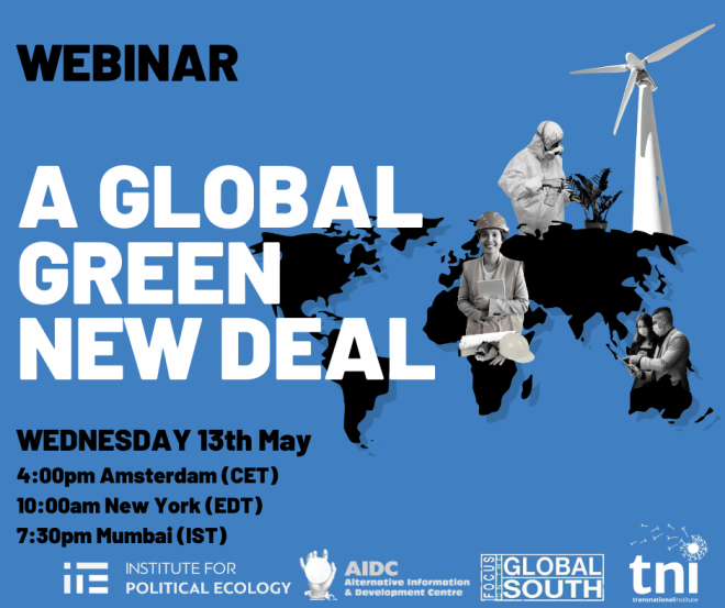 A Global Green New Deal - Weds 13 May 4pm CET