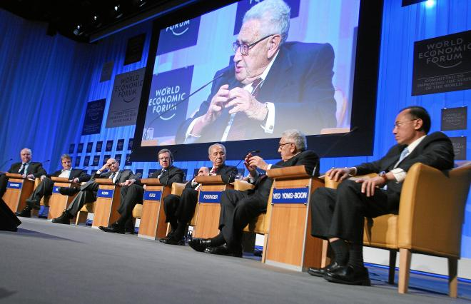 Henry Kissinger at the World Economic Forum in 2008