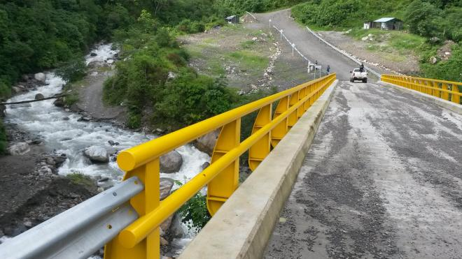 New bridge connecting Briceño and Pueblo Nuevo