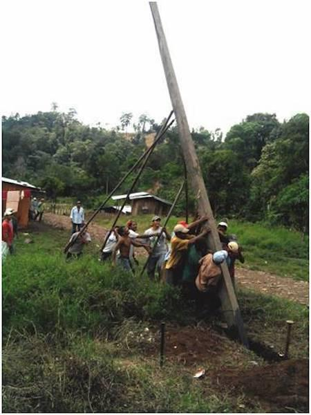 lifting of the electricity grid posts