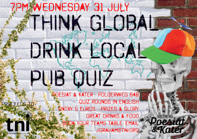 Think Global Drink Local: Pub Quiz #5 | Transnational Institute