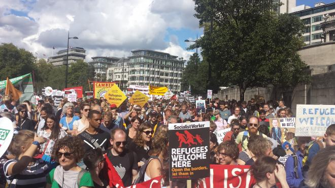 Refugees welcome march in London