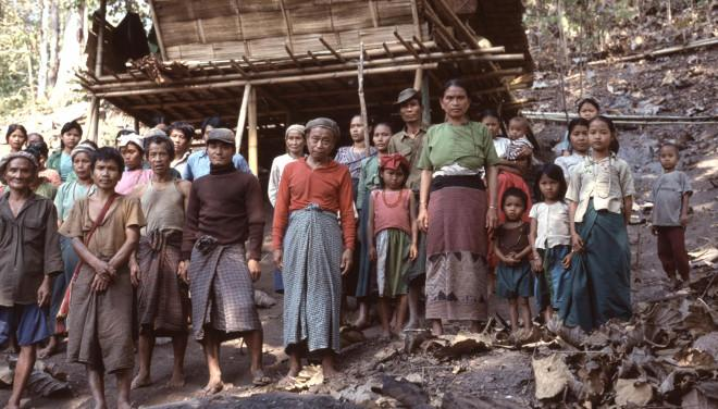 Displaced Karenni villagers