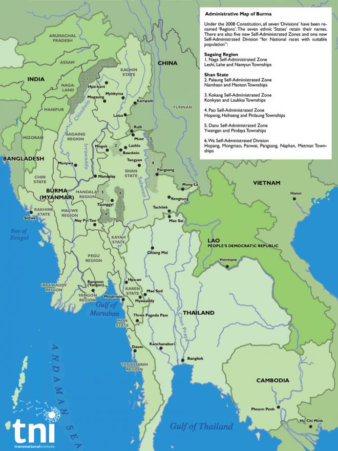 Administrative map of Myanmar Transnational Institute