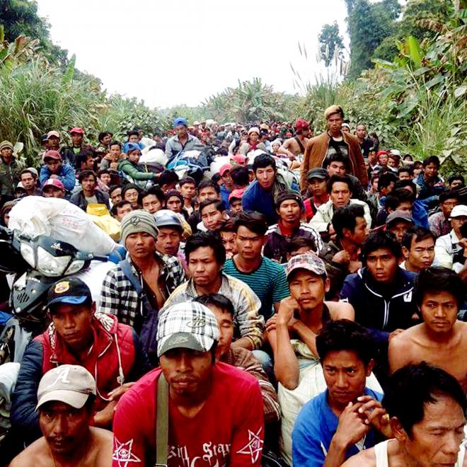 Displaced civilians and migrant workers in Tanai conflict zone, Kachin State, 29 January