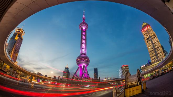 View of Shanghai Pearl Tower
