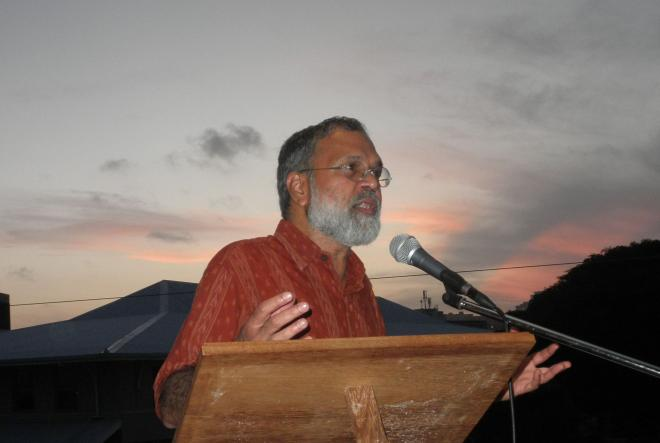 Praful Bidwai at booklaunch in Durban 2011