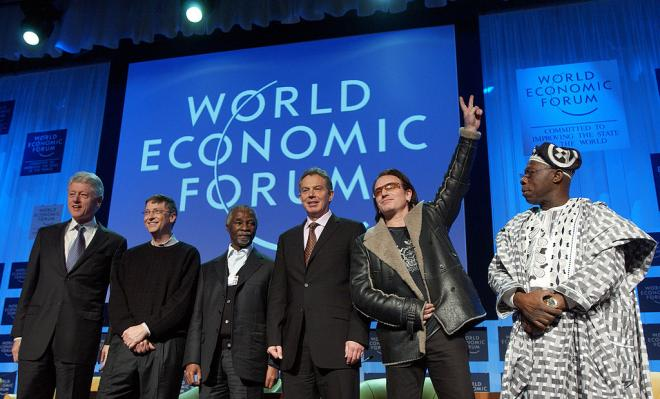 U2's Bono is a regular at the World Economic Forum