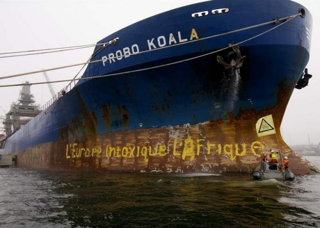 Oil trading company, Trafigura, illegally dumped toxic waste in Ivory Coast and has yet to take responsibilty and pay compensation
