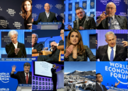 Montage of media on Davos