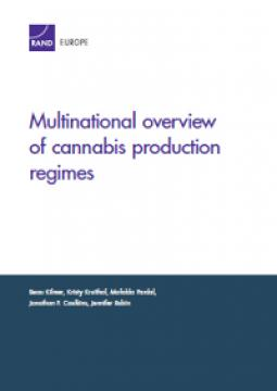 Cover of RAND report on Cannabis production regimes