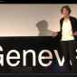 Screenshot of video of Susan George at Tedx Geneva